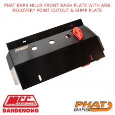 PHAT BARS HILUX FRONT BASH PLATE WITH ARB RECOVERY POINT CUTOUT & SUMP PLATE