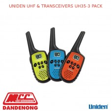 UNIDEN UHF & TRANSCEIVERS UH35-3 PACK