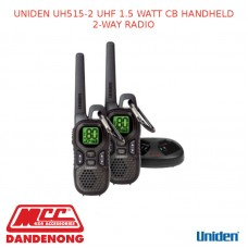 UNIDEN UH515-2 UHF 1.5 WATT CB HANDHELD 2-WAY RADIO