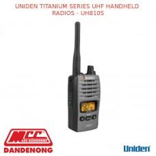 UNIDEN TITANIUM SERIES UHF HANDHELD RADIOS - UH810S