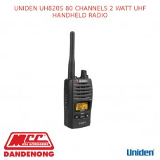 UNIDEN UH820S 80 CHANNELS 2 WATT UHF HANDHELD RADIO
