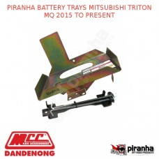 PIRANHA BATTERY TRAYS MITSUBISHI TRITON MQ 2015 TO PRESENT