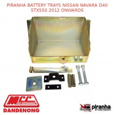 PIRANHA BATTERY TRAYS NISSAN NAVARA D40 STX550 2012 ONWARDS