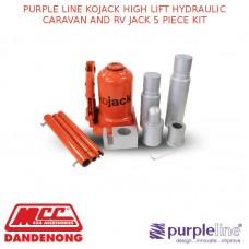 PURPLE LINE KOJACK HIGH LIFT HYDRAULIC CARAVAN AND RV JACK 5 PIECE KIT