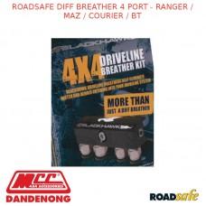 ROADSAFE DIFF BREATHER 4 PORT - RANGER / MAZ / COURIER / BT