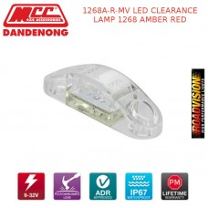 1268A-R-MV LED CLEARANCE LAMP 1268 AMBER RED