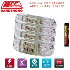 1268R-C-4 LED CLEARANCE LAMP BULK 4 PK 1268 RED