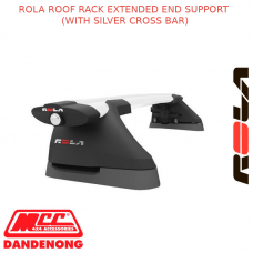ROLA ROOF RACK SET FOR HOLDEN RODEO-2D SPACE CAB RC-JUL08-JUN12-SILVER(EXTENDED)