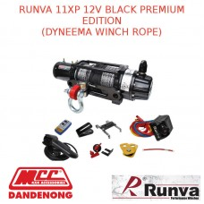 RUNVA 11XP 12V BLACK PREMIUM EDITION DYNEEMA WINCH ROPE