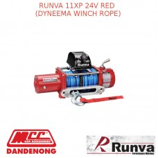 RUNVA 11XP 24V RED DYNEEMA WINCH ROPE