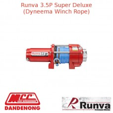 RUNVA 3500lb 3.2HP RED WINCH DYNEEMA ROPE