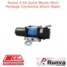 RUNVA 4500lb 3.2HP BLACK WINCH DYNAMEE ROPE