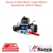 RUNVA 8000lb 5.5HP BLACK WINCH DYNAMEE ROPE