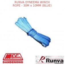 RUNVA DYNEEMA WINCH ROPE - 30M x 10MM (BLUE)