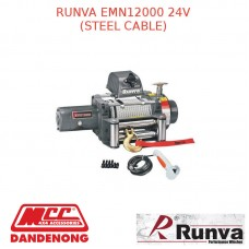 RUNVA EWN12000 24V  WITH GALVANISED STEEL CABLE
