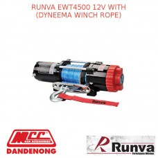 RUNVA EWT4500 12V WITH DYNEEMA WINCH ROPE