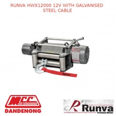 RUNVA HWX12000 12V WITH GALVANISED STEEL CABLE
