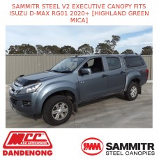 SAMMITR STEEL V2 EXEC CANOPY FITS ISUZU D-MAX RG01 2020+ [HIGHLAND GREEN MICA]