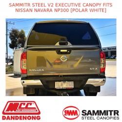 SAMMITR STEEL V2 EXECUTIVE CANOPY FITS NISSAN NAVARA NP300 [POLAR WHITE]