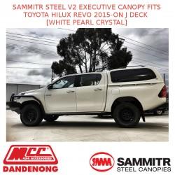 SAMMITR STEEL V2 EXEC CANOPY FITS TOYOTA HILUX REVO 15-ON [WHITE PEARL CRYSTAL]