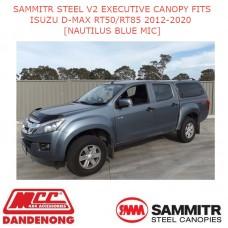 SAMMITR STEEL V2 EXEC CANOPY FITS ISUZU D-MAX RT50/RT85 12-20[NAUTILUS BLUE MIC]