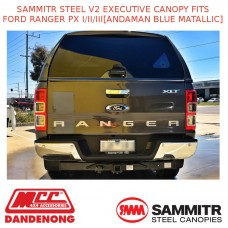SAMMITR STEEL V2 EXEC CANOPY FITS FORD RANGER PX I/II/III[ANDAMAN BLUE MATALLIC]