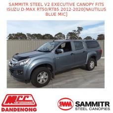 SAMMITR STEEL V2 EXEC CANOPY FITS ISUZU D-MAX RT50 12-20[NAUTILUS BLUE MIC]