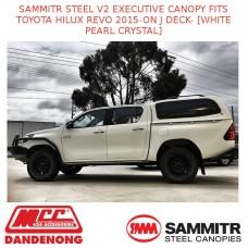 SAMMITR STEEL V2 EXEC CANOPY FITS TOYOTA HILUX REVO 15-ON-[WHITE PEARL CRYSTAL]