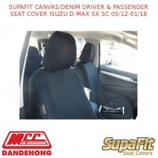 SUPAFIT CANVAS/DENIM DRIVER & PASSENGER SEAT COVER FITS ISUZU D-MAX SX SC