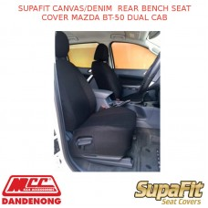 SUPAFIT CANVAS/DENIM  REAR BENCH SEAT COVER FITS MAZDA BT-50 DUAL CAB