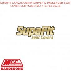 SUPAFIT CANVAS/DENIM DRIVER & PASSENGER SEAT COVER FITS ISUZU MU-X 11/13-05/16