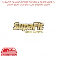 SUPAFIT CANVAS/DENIM DRIVER & PASSENGER 5 DOOR SEAT COVERS SUIT SUZUKI SWIFT