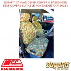SUPAFIT CANVAS/DENIM DRIVER & PASSENGER SEAT COVERS FITS DODGE RAM 2018+