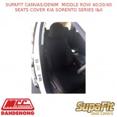 SUPAFIT CANVAS/DENIM  MIDDLE ROW 40/20/40 SEATS COVER KIA SORENTO SERIES I&II