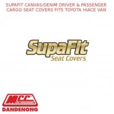 SUPAFIT CANVAS/DENIM DRIVER & PASSENGER CARGO SEAT COVERS FITS TOYOTA HIACE VAN