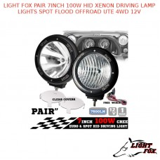 LIGHT FOX PAIR 7INCH 100W HID XENON DRIVING LAMP LIGHTS SPOT FLOOD