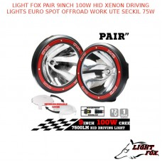 LIGHT FOX PAIR 9INCH 100W HID XENON DRIVING LIGHTS EURO SPOT OFFROAD