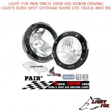 LIGHT FOX PAIR 9INCH 100W HID XENON DRIVING LIGHTS EURO SPOT