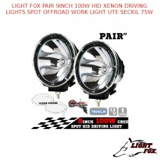 LIGHT FOX PAIR 9INCH 100W HID XENON DRIVING LIGHTS SPOT OFFROAD LIGHT