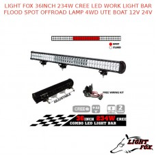 LIGHT FOX 36INCH 234W CREE LED WORK LIGHT BAR FLOOD SPOT OFFROAD LAMP