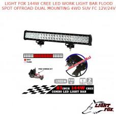 LIGHT FOX 144W CREE LED WORK LIGHT BAR FLOOD SPOT OFFROAD