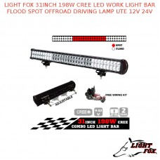 LIGHT FOX 31INCH 198W CREE LED WORK LIGHT BAR FLOOD SPOT OFFROAD