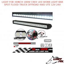 LIGHT FOX 30INCH 180W CREE LED WORK LIGHT BAR SPOT FLOOD TRUCK OFFROAD