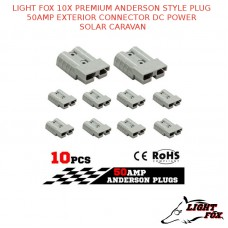 LIGHT FOX 10X PREMIUM ANDERSON STYLE PLUG 50AMP EXTERIOR CONNECTOR DC POWER