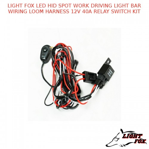 light fox led hid spot work driving light bar wiring loom harness rh mccdandenong com au