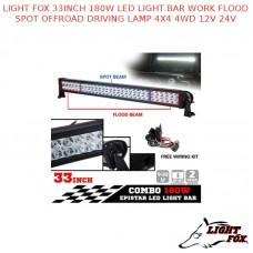 LIGHT FOX 33INCH 180W LED LIGHT BAR WORK FLOOD SPOT OFFROAD