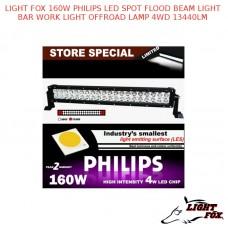 LIGHT FOX 160W PHILIPS LED SPOT FLOOD BEAM LIGHT BAR WORK LIGHT OFFROAD LAMP