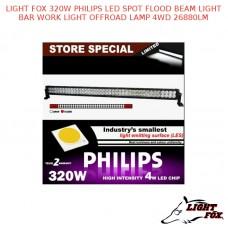 LIGHT FOX 320W PHILIPS LED SPOT FLOOD BEAM LIGHT BAR WORK LIGHT OFFROAD