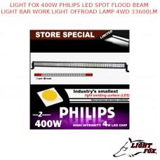 LIGHT FOX 400W PHILIPS LED SPOT FLOOD BEAM LIGHT BAR WORK LIGHT OFFROAD