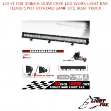 LIGHT FOX 30INCH 180W CREE LED WORK LIGHT BAR FLOOD SPOT OFFROAD